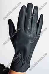 Женские зимние перчатки кожзам кнопка