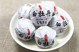 Бай мудань Белый пион белый чай высокогорный со старых деревьев 1 шарик