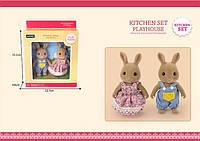 Животные флоксовые Кролики,2 фигурки,в кор 13,7*4,6*15,1см /72/ (G06)