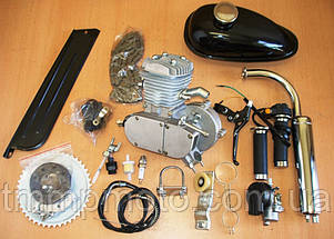 Веломотор / мотовелосипед в сборе 80см3/ 80 сс заводского качества без стартера полный комплект, фото 2