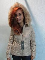 Куртка осенняя женская 831 бежевый код 648а