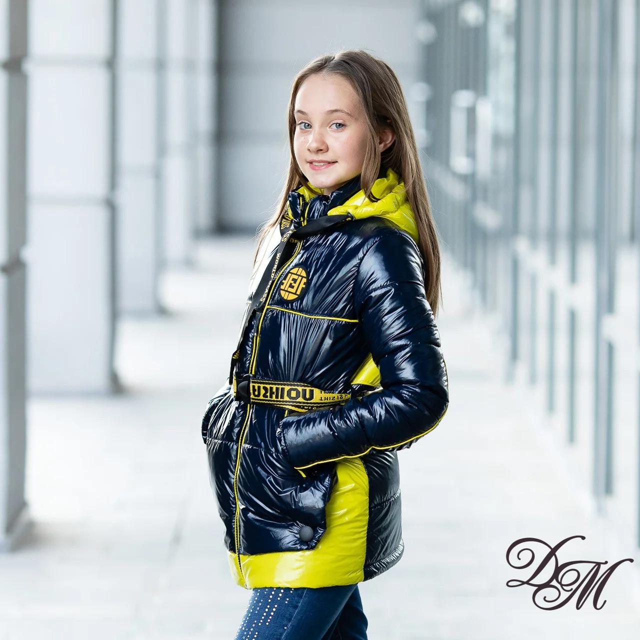 """Куртка демисезонная для девочки """"Массимо"""" синий 122"""