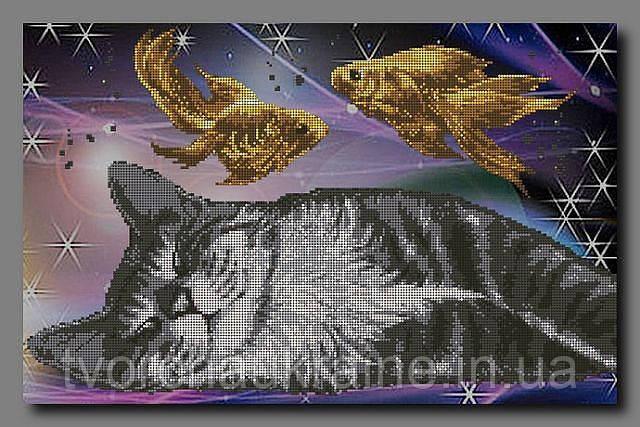 """Схема для вышивки бисером """"Кошкин сон """""""