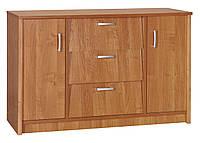 Шкаф для обуви с дверьми и ящиками, ольха, 110х36х70см