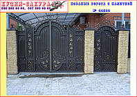 Ворота въездные кованые с калиткой и супер качественной покраской. Ручная ковка. Установка, гарантия.
