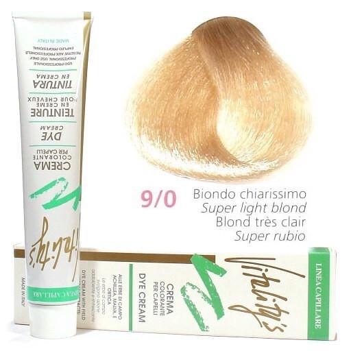 9/0 Краска для волос с экстрактами трав VITALITY'S Collection – Очень светлый блондин , 100 мл