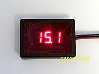 Вольтметр автомобильный цифровой 12В 24В АПрИ mini красный для легкового и грузового транспорта