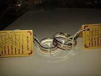 Обручальное кольцо, серебро с золотыми вставками