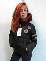 Куртка осенняя женская 816 чёрная код 651а