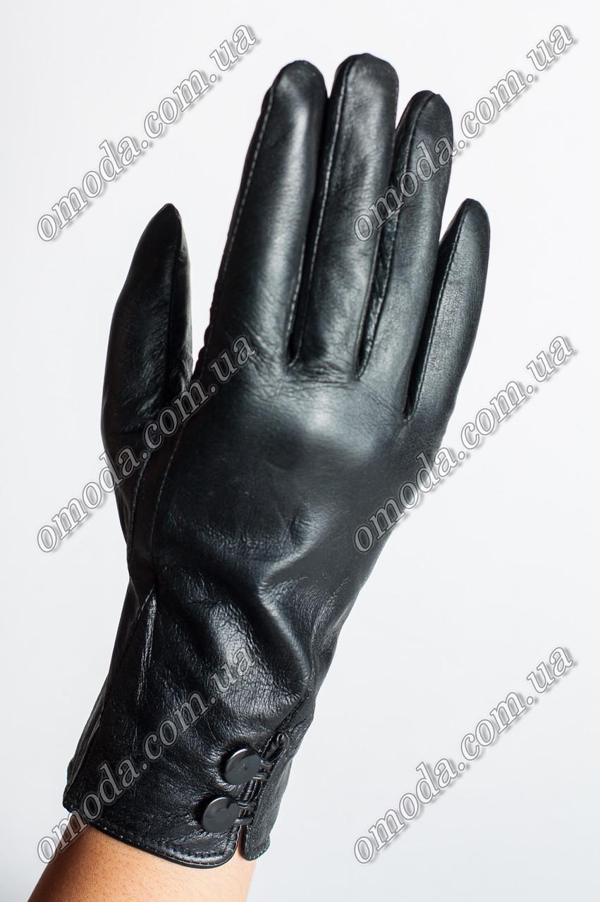Женские перчатки кожа зима