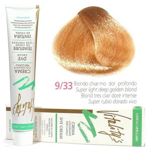 9/33 Краска для волос с экстрактами трав VITALITY'S Collection – Интенсивно-золотистый  блондин , 100 мл