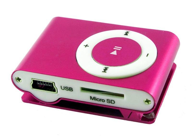 Мр3 плеер дизайн iPod Shuffle + наушники + кабель + коробка Pink