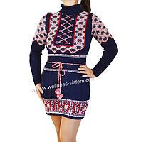 Вязаное платье Вышиванка, фото 1