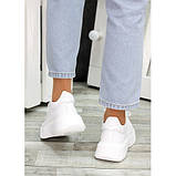 Женские белые кроссовки из натуральной кожи, фото 2