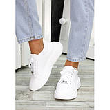 Женские белые кроссовки из натуральной кожи, фото 4