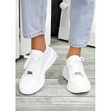 Женские белые кроссовки из натуральной кожи, фото 6