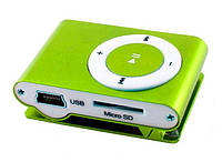 Мр3 плеер дизайн iPod Shuffle + наушники + кабель + коробка Green