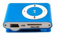 Мр3 плеер дизайн iPod Shuffle + наушники + кабель + коробка Blue