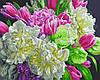Картина по номерам Бело-розовые пионы, размер 50*40 см, зарисовка полная