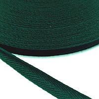 Киперная стрічка хб, 10 мм. зелена.
