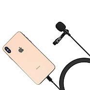 Микрофон для съемки - петличка Puluz PU426 1,5м (FOR IPHONE), фото 4