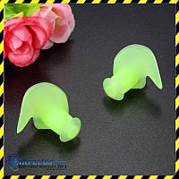 Беруши для плавания силиконовые, зеленый  цвет. Акция!