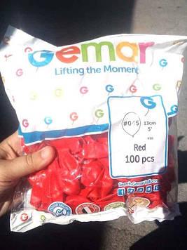 Шар воздушный А50 #045 (13см) красный 100шт Gemar