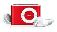 Мр3 плеер дизайн iPod Shuffle + наушники + кабель + коробка Red