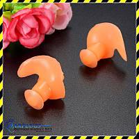 Беруши для плавания силиконовые, оранжевый  цвет. Акция!