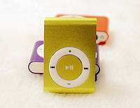Мр3 плеер дизайн iPod Shuffle + наушники + кабель + коробка Yellow