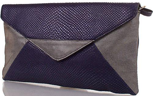 Изысканный женский кожаный клатч ETERNO (ЭТЕРНО),синий, ET15125