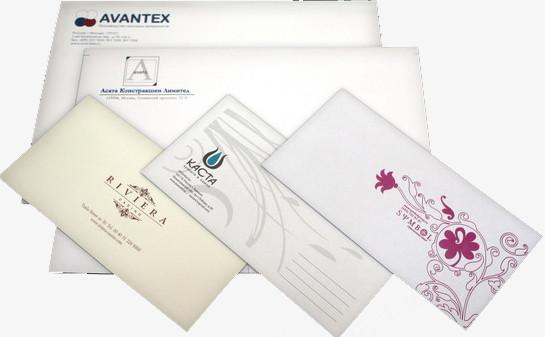 Печать на конвертах цена