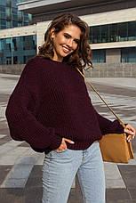 Жіночий в'язаний ошатний светр (3 кольори), фото 3
