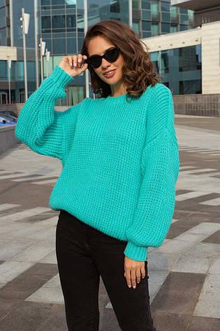 Жіночий в'язаний ошатний светр (3 кольори), фото 2