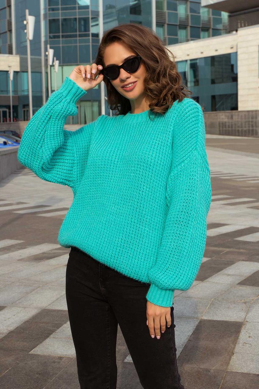 Жіночий в'язаний ошатний светр (3 кольори)