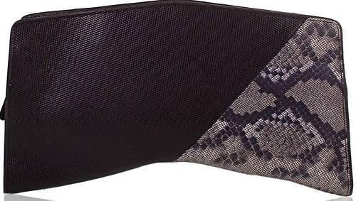 Стильный женский кожаный клатч ETERNO (ЭТЕРНО),черный, ET152005-1