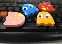 Mp3 плеер клякса из игры Pacman (Блинки, Пинки, Инки, Клайд) + наушники + кабель + коробка
