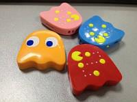 Mp3 плеер клякса из игры Pacman (Блинки, Пинки, Инки, Клайд) + наушники + кабель + коробка Клякса Блинки Красный Red