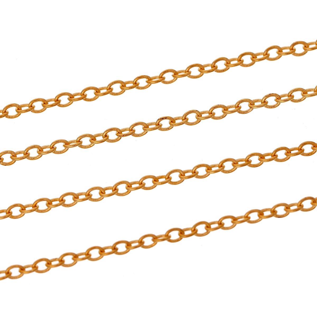 Цепь 2х1,5 мм золото для рукоделия