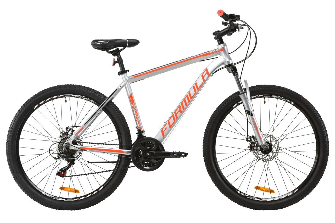 """Велосипед подростковый горный 26"""" Formula Thor 1.0 2020 рама 19 серебристо-черный с красным"""
