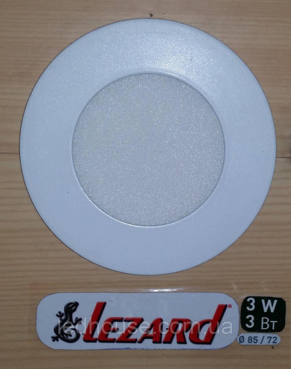 Светодиодная панель круглая-3Вт (Ø85 / Ø72) 6400K, 240 люмен
