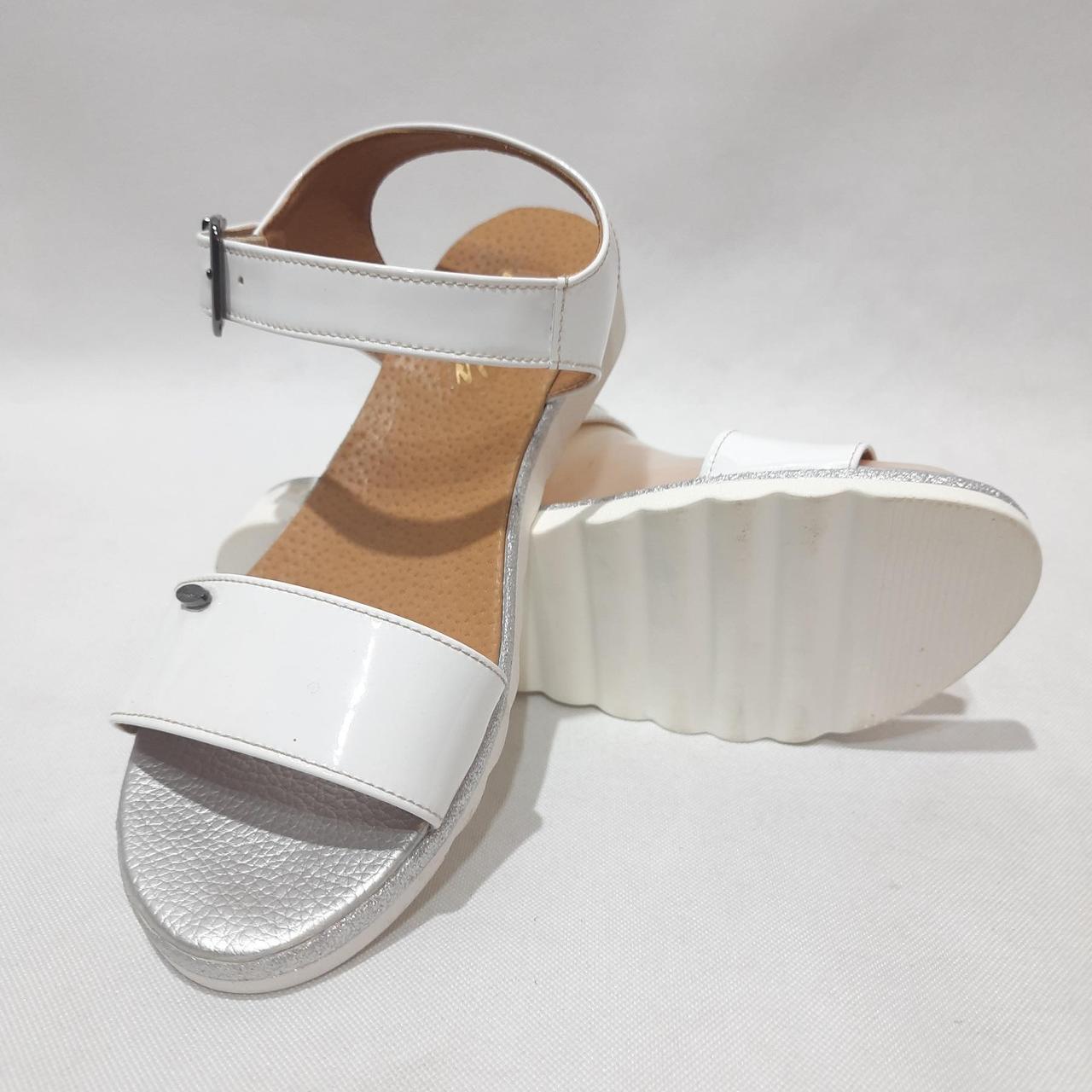 Жіночі босоніжки, літні сандалі шкіряні на ремінці р. 37 39 40 Білі
