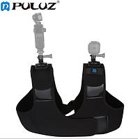 Крепление на плечо для экшн камер с двумя крепежами на 360 градусов (PULUZ) PU453, фото 1