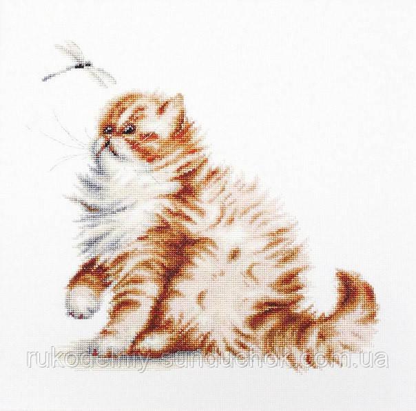"""Набор для вышивания крестом """"Luca-s"""" B2270 Кошка со стрекозой"""