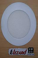 Светодиодная панель круглая-6Вт (Ø120 / Ø107) 6400K, 470 люмен