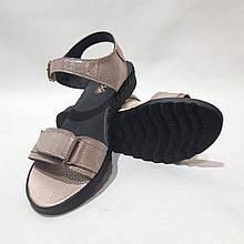 Жіночі босоніжки, шкіряні сандалі на ремінці р. 38 Кавові остання пара