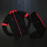 Спортивный мужской костюм Under Armour Черный/Красный, 1598700254