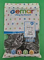 """Надувные шары пастель черный 10"""" (25 см) Gemar 100 шт (1 пач), фото 1"""