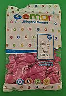 """Повітряні кульки пастель рожевий 10"""" (25 см) Gemar 100 шт (1 пач.)"""