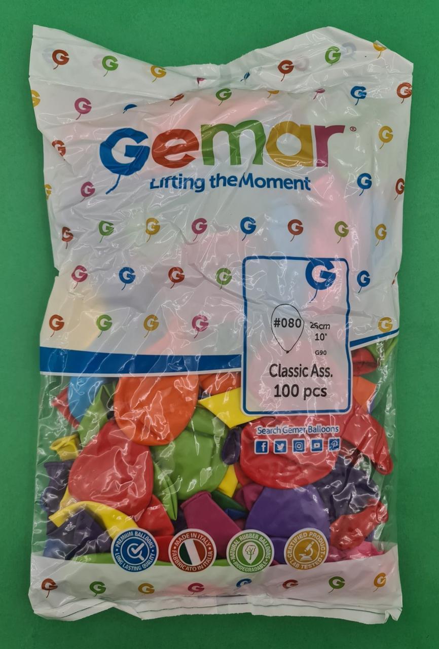 """Надувные шарики ассорти пастель 10"""" (25 см) 100 шт (1 пач)"""